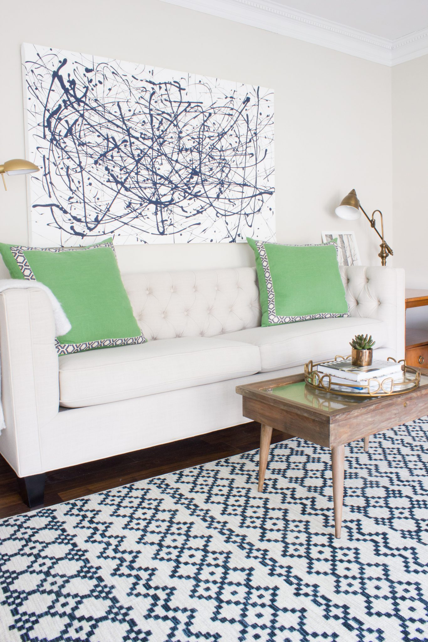 Living Room Styling Tips- Erin Spain- Aztec Bands Denim