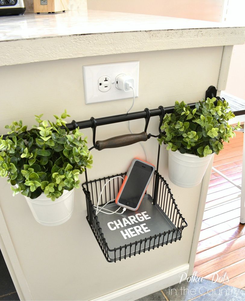 Phone Charging Station- IKEA Hacks from Mohawk Home