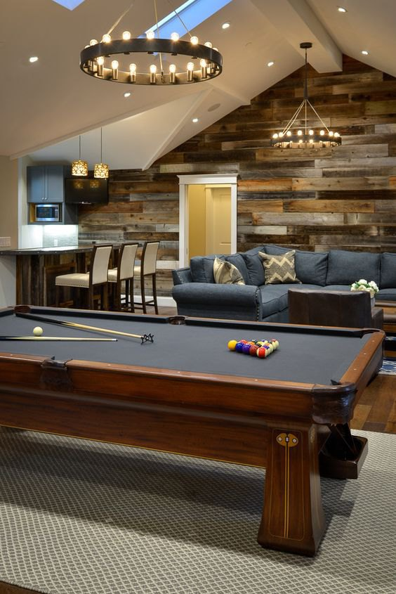 Man Cave- Laminate on Walls- Installation- Chip Wade and Mohawk