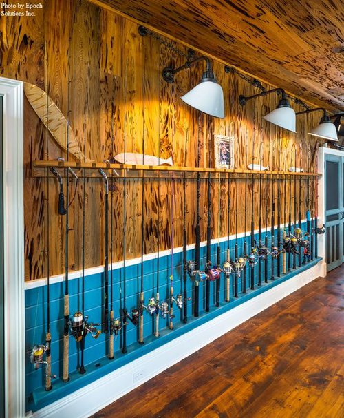 Fishing Wall Display- Man Cave Ideas from Mohawk Home