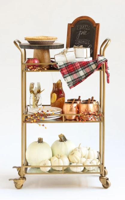 Thanksgiving Pie Cart